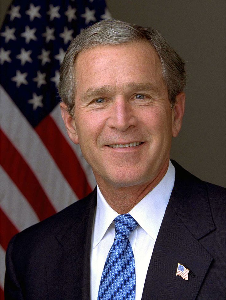"George Walker Bush, 43rd President of the United States (January 20, 2001 to January 20, 2009) Nicknames: ""W"" Born: July 6, 1946, in New Haven, Connecticut."