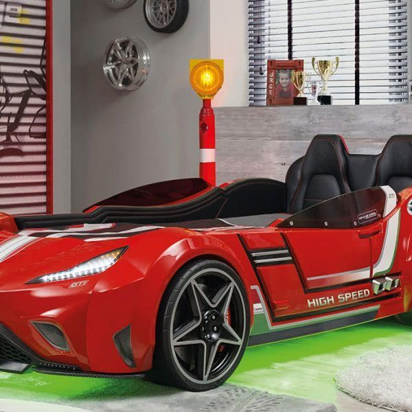 Cilek Gts Red Car Bed In 2020 Car Bed Race Car Bed Bed Lights