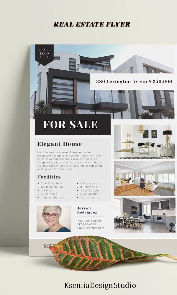 Flyer Templates For Microsoft Office Real Estate Flyer Template Real Estate Agent Flyer Flyer