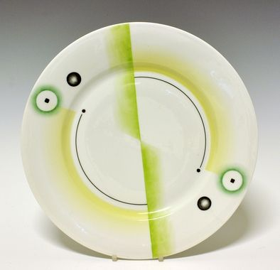 Plate by Nora Gulbrandsen for Porsgrund Porselen. In production between 1930-1935. Model nr 15.00. Decor nr 5594