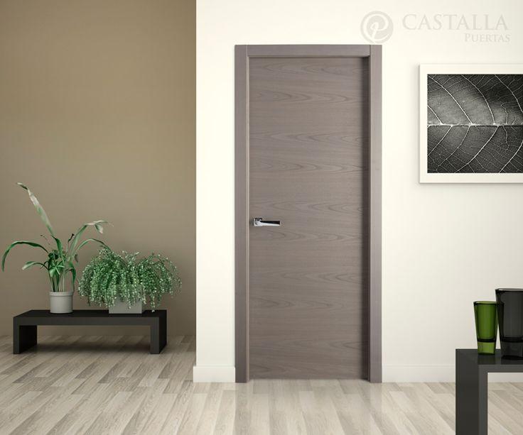 Puerta modelo L62 castaño tinte plata disponible en Puertas Castalla. Ambienta tu hogar... www.puertascastalla.com