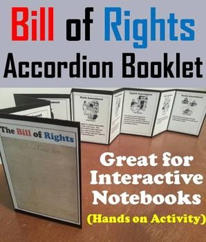 Bill of Rights Interactive Notebook/ US Constitution ...