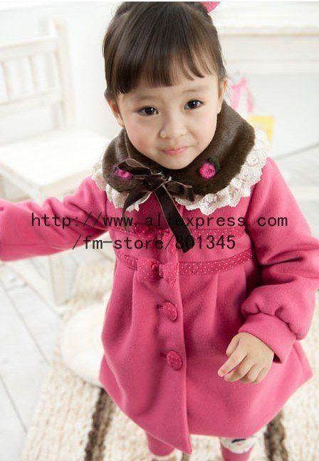 Бесплатная доставка, 1 шт./лот, Смешанная серия, Дети одежда, Бантом дизайн дети теплый пальто, Длинное пальто, Кашемировые ткани, Розовый черный цвет, принадлежащий категории Куртки и относящийся к Одежда и аксессуары на сайте AliExpress.com   Alibaba Group