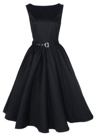 Amazon.com: Lindy Bop Vintage 50S Audrey Hepburn Style Swing Party Rockabilly Evening Dress: Clothing