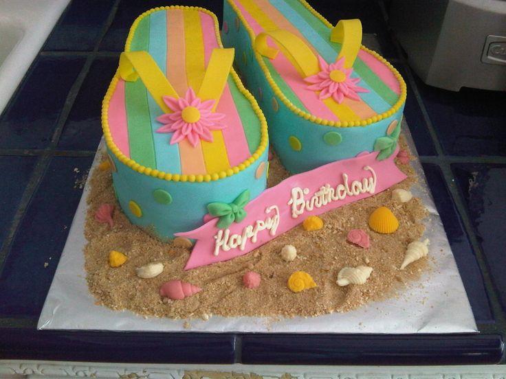 FLIP FLOP BIRTHDAY CAKE! :)  Wishing our store owner Katherine Rasmussen a Happy Birthday!