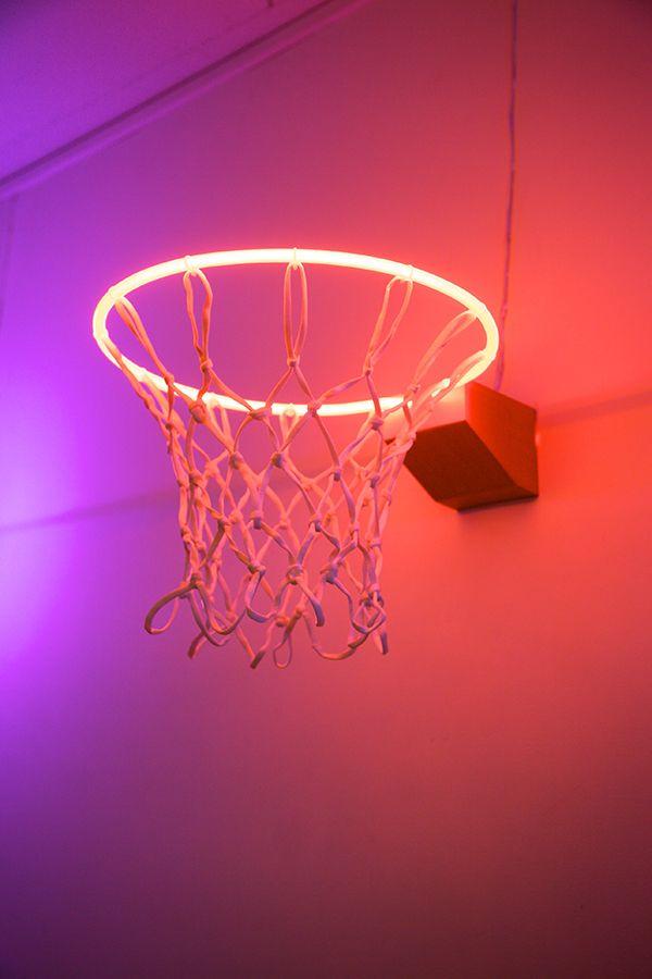Basketball Wall Neon Wall Art Basketball Wallpaper Basketball court wallpapers wallpaper