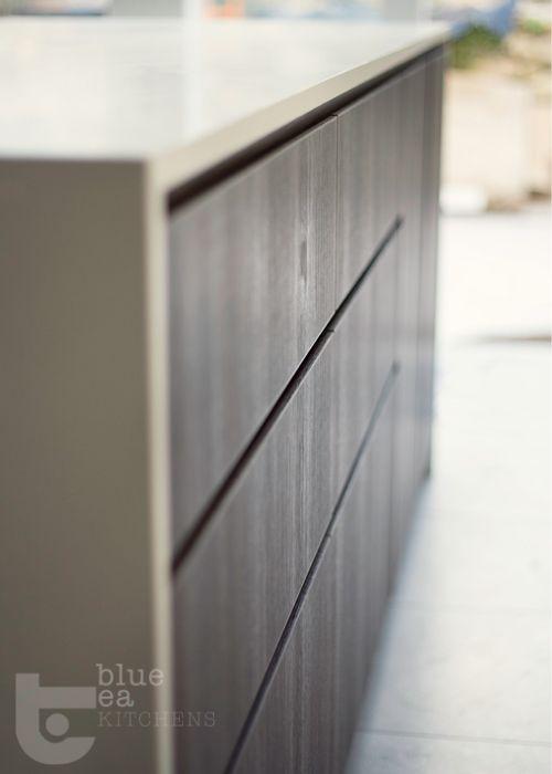 modern kitchen white and timber    Sydney Kitchen Design   Blue Tea