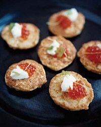 Cauliflower Fritters // Easy Dinner Party Recipes: http://www.foodandwine.com/slideshows/easy-dinner-party-recipes/ #foodandwine