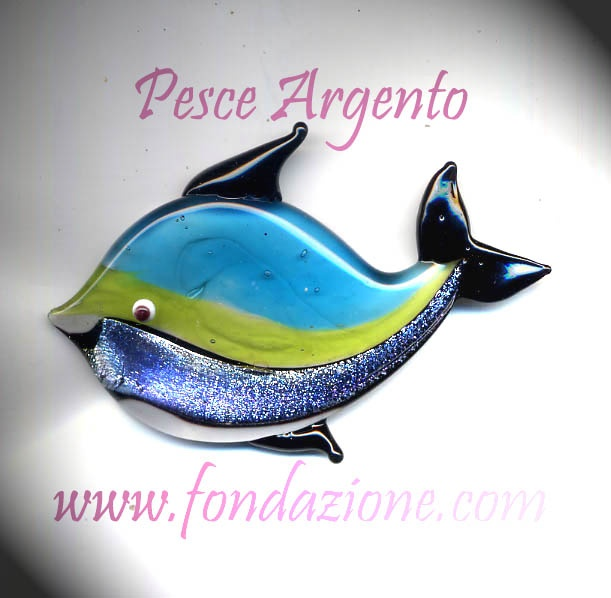 LA FONDAZIONE -ITALY Murano Glass Fish all Handmade