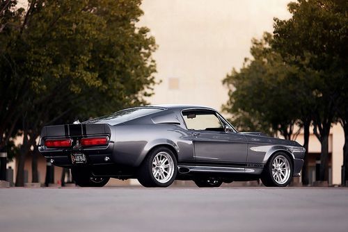 Classic Ford Mustang GT500E.