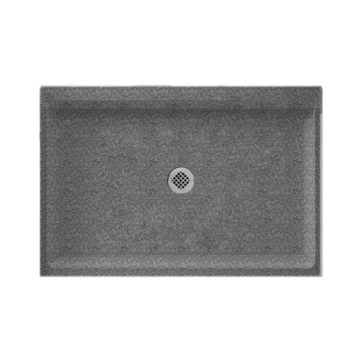 Swanstone Gray Granite Solid Surface Shower Base Common 34 In