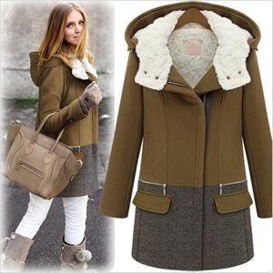 2014 fashion thick plus size wool coat women fashion zipper cap winter wadded jacket outerwear female parkas Free Shipping winter coat