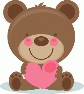 Cute Valentine Bear Scrapbook Cuts SVG Cutting Files Doodle Cut For Scrapbooking Clip Art Clipart Cricut Free Svg