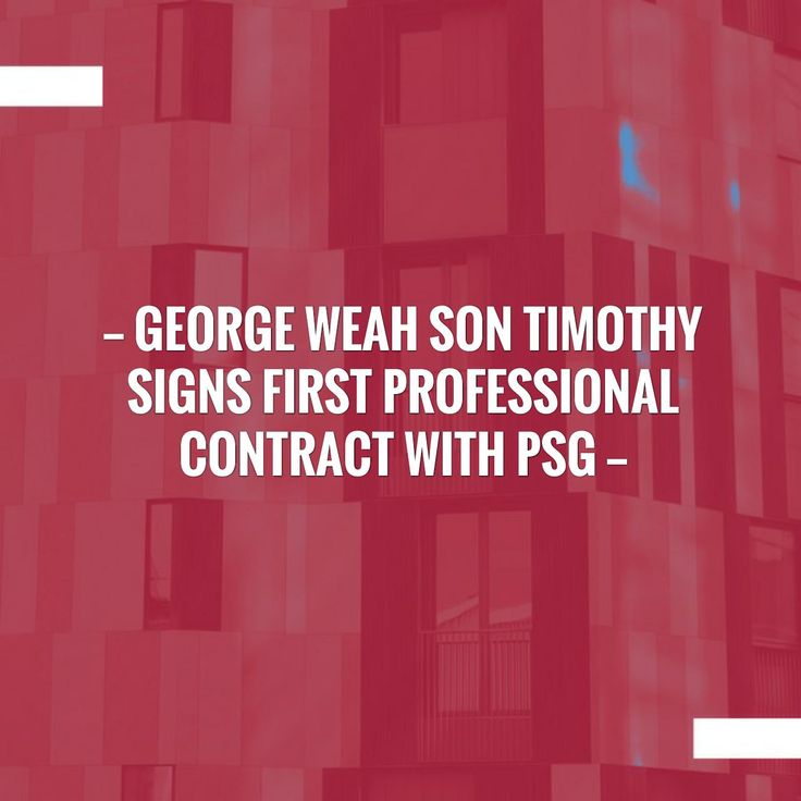 Check out my new post! George Weah son Timothy signs first professional contract with PSG :) http://sportstribunal.com/ligue-1-news/transfers-ligue-1/george-weah-son-timothy-signs-first-professional-contract-with-psg/