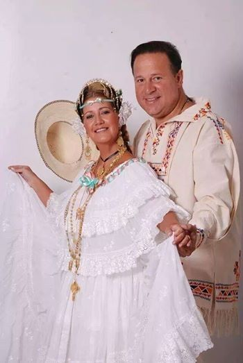 New President of Panama and his wife in traditional Panama dress May 6, 2014
