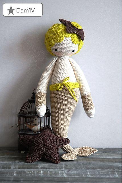 "Princesse des Mers by Galexia Pattern ""MICI"" - lalylala crochet pattern N° XI - Mermaid by Lydia Tresselt"