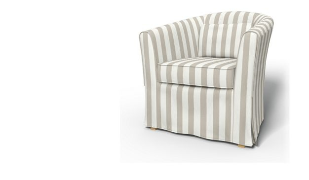 Tullsta Armchair cover with piping - Armchair Covers | Bemz