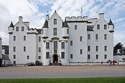 Blair Castle stands in its grounds near the village of Blair Atholl in Perthshire in Scotland. Blair Castle is said to have been started in 1269 by John I Comyn, Lord of Badenoch.