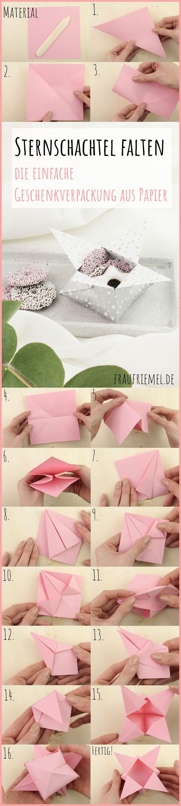 Origami Sternschachtel falten – einfach & schön