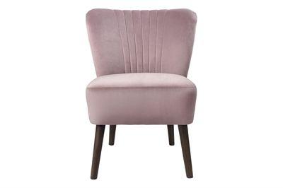 Copenhagen loungestol i blød old rose velour fra Cozy Living