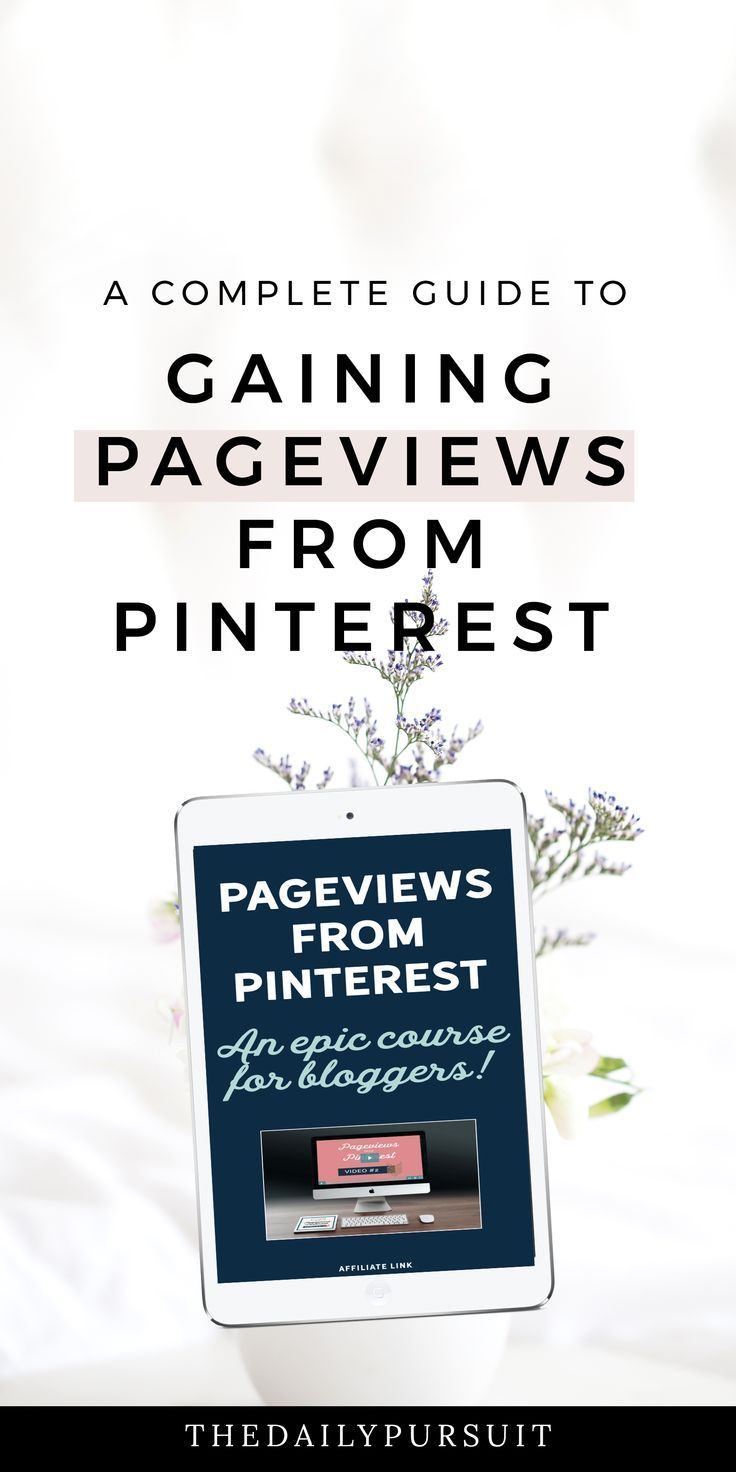 Gaining Pageviews from Pinterest with the Epic Pinterest Course. thedailypursuit.com [affiliate]