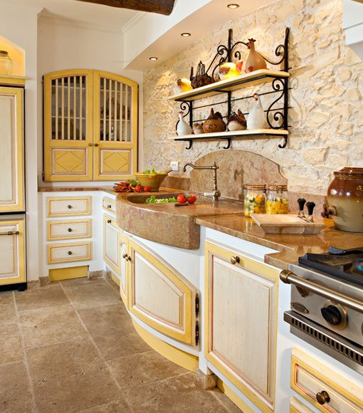 Yellow Trim & Natural Stone