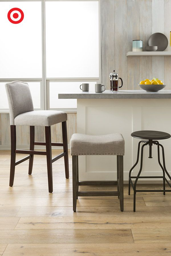 Create an inviting and casual kitchen space with open seating.
