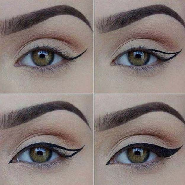 how to put on eyeliner pencil for beginners