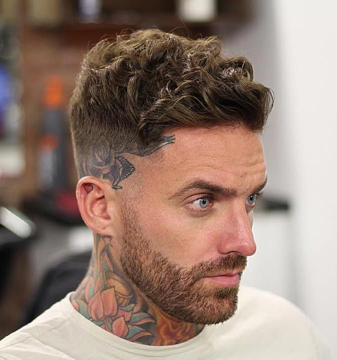 40 Modern Men S Hairstyles For Curly Hair That Will Change Your Look Curly Hair Fade Wavy Hair Men Mens Haircuts Short