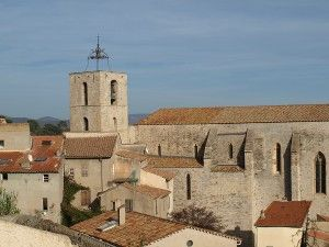 Overlooking Hyères and its Church of Saint-Paul on the French Riviera