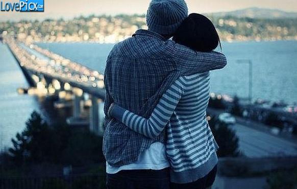 Love couple hug bridge beautiful sweet wallpapers - Tight hug wallpaper ...