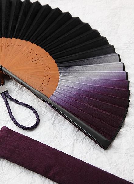 Traditional Kyoto folding fan by Hakuchikudo, Japan