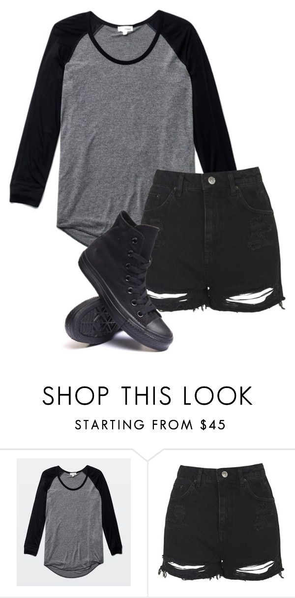 """""""Untitled #527"""" by bands-are-my-savior ❤ liked on Polyvore featuring Wilfred, Topshop and Converse"""