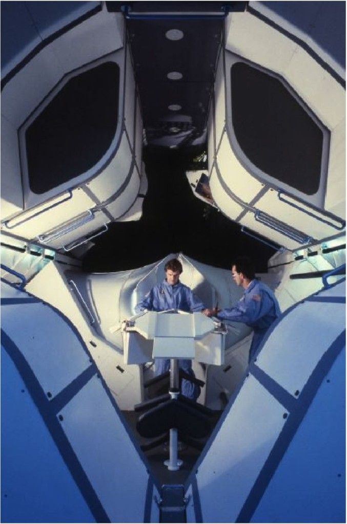 Space Station Wardroom Full-Scale Prototype, Project for NASA ARC, JSC, David Nixon, Southern California Institute of Architecture, 1987-88
