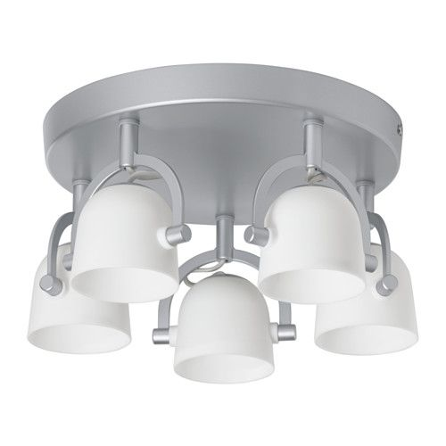 SVIRVEL Ceiling spotlight with 5 spots IKEA You can easily direct the light to different places since each spotlight can be adjusted individually.