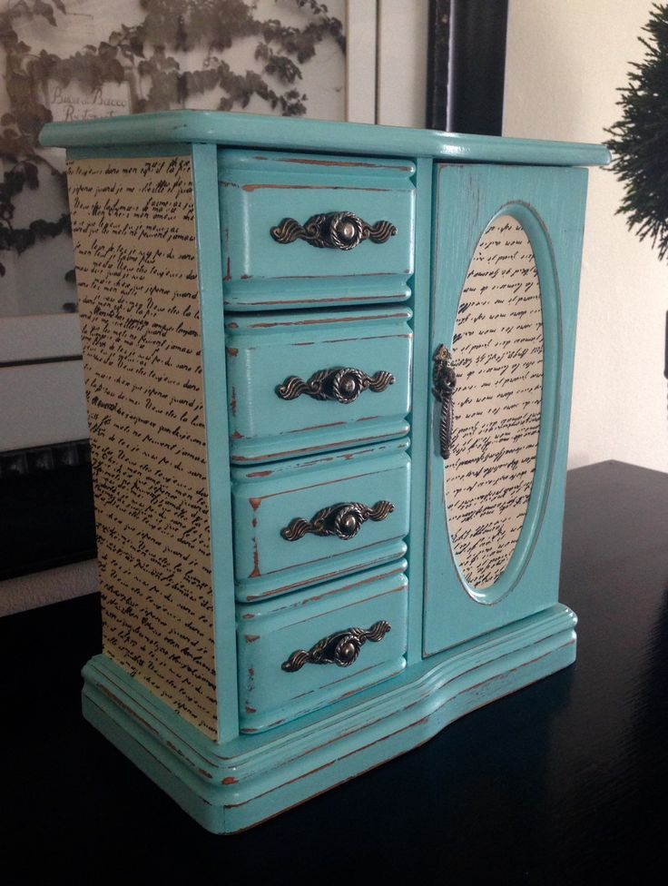 17 beste ideer om Jewelry Box Painted p Pinterest Klassiske