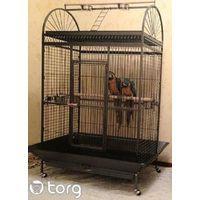 Voli?re cage ? oiseaux canaries perruches perroquets L 123 x P 82 x H 180 cm