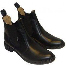 Pascuello Sztyblety jeździeckie DAMSKIE ze skóry licowej ( krótkie buty do jazdy konnej) 011D