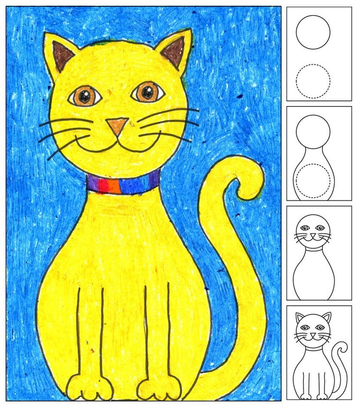 Art Projects for Kids: Draw a Sitting Cat