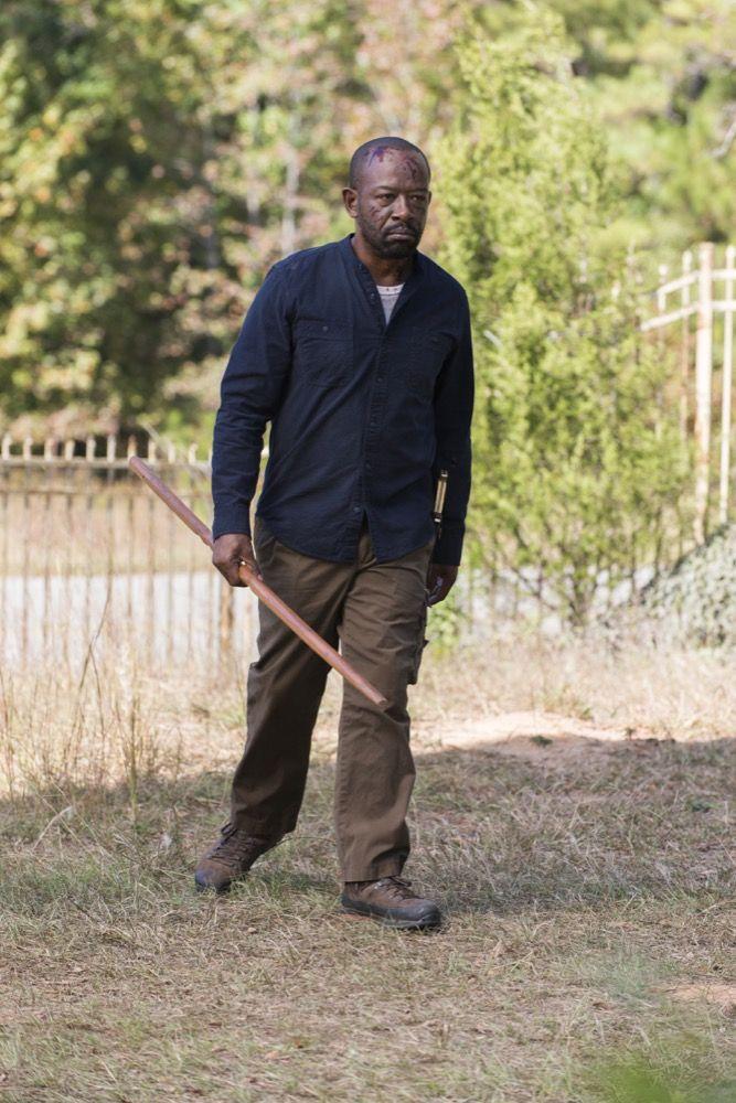 "Morgan Jones. The Walking Dead Season 7 Episode 13 ""Bury Me Here."" TWD S07 E13."