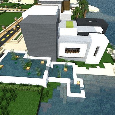 Light - Modern beach House Minecraft Project