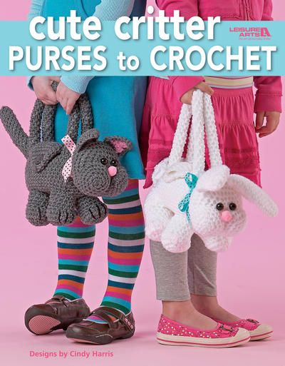 Leisure Arts-Cute Critter Purses To Crochet