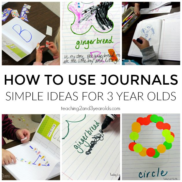 We introduce journals with our 3 year olds with simple ideas that teach them how to love and care for their little books.