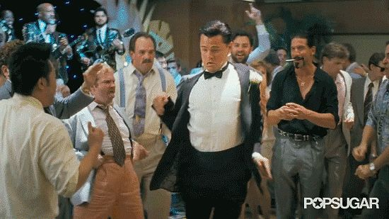 Leo's amazing dance moves in The Wolf of Wall Street  trailer! | Click for more Leo GIFs