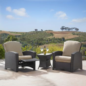 Costco Santa Fe 3 Piece Recliner Set By Mission Hills Patio Furniture Ide