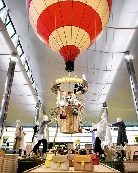 Burberry presents a 15 metres tall hot air balloon installation inside the departure lounge of Heathrow Terminal 2 to celebrate the achievement of Air Commodore Edward Maitland Auguste Gaudron and Charles Turner who travelled 1117 miles from UK to Russia in 1908. On this journey Maitland wore Burberry gabardine suiting. The installation features iPads and post boxes for anyone to create Burberry postcards that can be personalised with name and illustrations. At the same venue people could…