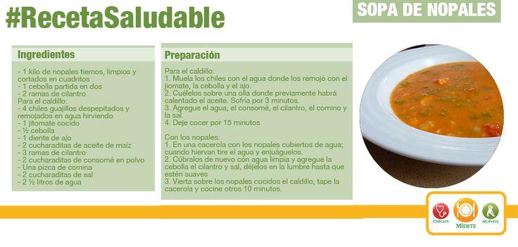 Una idea diferente para empezar tu comida. Sopa de Nopales