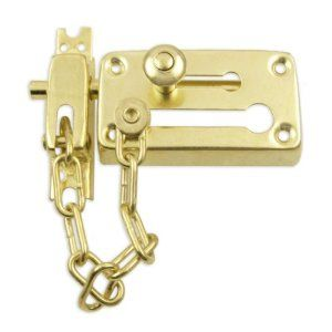 Heavy-Duty Combination Door Chain & Dead Bolt Lock Set by Pit Bull. $3.69. Dramatically increase the security of any door in less than 5 minutes. Installs on wood, metal or fiberglass/composite doors and includes all mounting hardware.