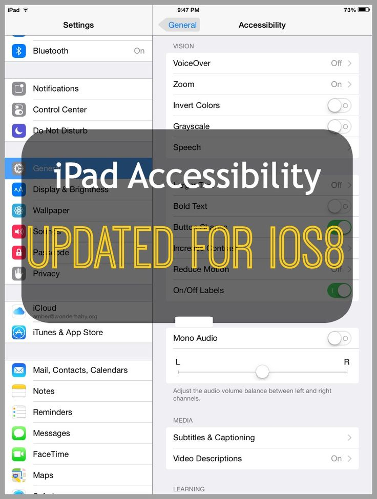 Did you know that the recent iPad update to iOS8 included a lot of new features for special needs kids? Especially for kids with visual impairments!