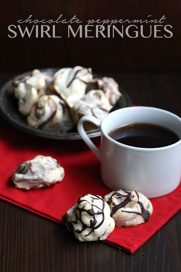 Low carb chocolate peppermint swirl meringues and letters from Santa ...